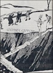 Caricatura-de-Leoncio-Martinez-el-abismo-entre-el-gomecismo-y-la-democracia